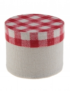 4 Boîtes en coton vichy 5 cm