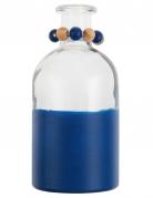 Vase en verre bicolore bleu 16 cm