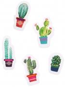 50 Confettis de table en papier cactus Mexique 2 à 4 cm
