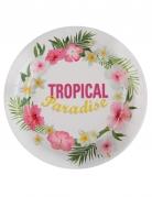 10 Assiettes en carton Tropical Paradise 23 cm
