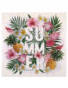 20 Serviettes en papier Tropical Paradise 33 x 33 cm