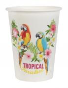 10 Gobelets en carton Tropical Paradise 200 ml