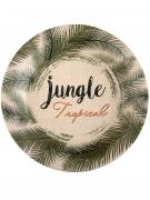 10 assiettes en carton Jungle Tropicale 23 cm