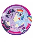 8 Petites assiettes en carton My Little Pony™ 18 cm