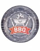 8 Assiettes en carton BBQ Party 23 cm