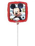 Petit ballon carré aluminium Mickey™ 23 x 23 cm