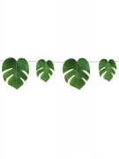 Guirlande feuilles tropicales vertes 2,74 m