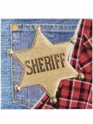 12 Serviettes en papier Western Wild West 33 x 33 cm
