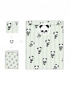 8 Cartons d'invitation Bébé Panda 12 x 12 cm