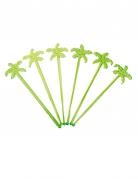 12 Agitateurs de cocktail palmiers verts 18 cm