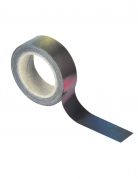 Washi tape simple noir iridescent 10 m