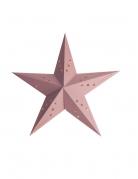 Lanterne étoile rose clair 30 cm