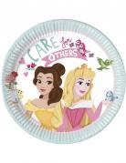 8 Petites assiettes en carton Disney Princesses™ 20 cm