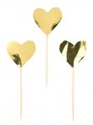 24 Piques en forme de Cœurs d'or