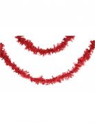 Guirlande en papier rouge 7 m