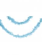 Guirlande en papier bleu clair 7 m