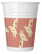 8 Gobelets en plastique Safari Party 200 ml