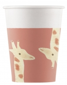 8 Gobelets en carton Safari Party 200 ml
