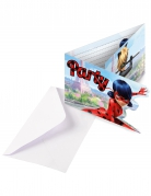 6 Cartons d'invitation Party avec enveloppes Ladybug™