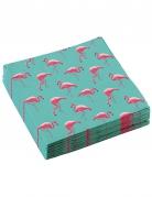20 Serviettes en papier Flamingo Paradise 33 x 33 cm