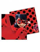 20 Serviettes en papier Ladybug™ rouges à pois 33 x 33 cm
