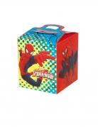 4 Boîtes en carton carrées Spiderman™ 9,5 x 9,5 x 11 cm