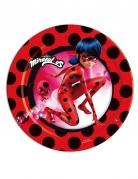 8 Petites assiettes en carton Ladybug Miraculous™ 18 cm