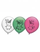 8 Ballons en latex Peppa Pig™