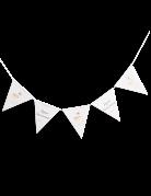 Guirlande fanions en carton Biche blanche 2 m