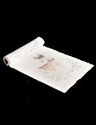 Chemin de table en lin Jolie Biche blanc 28 cm x 5 m