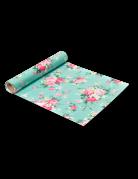 Chemin de table en tissu Tea Time menthe 28 cm x 5 m