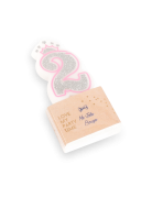 Bougie d'anniversaire chiffre 2 Princesse 5,8 cm