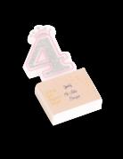 Bougie d'anniversaire chiffre 4 Princesse 5,8 cm