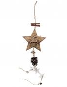 Suspension en bois et métal Hiver 54 cm