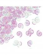 Confettis de table spirales iridescentes 1,58 cm 14 g