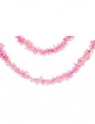 Guirlande en papier rose iridescent 7,62 m