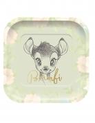 4 Assiettes en carton carré premium Bambi™ 24 x 24 cm