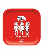 4 Assiettes en carton carré premium Star Wars™ 24 x 24 cm