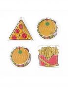 4 Accessoires piñata jeux labyrinthe fast food