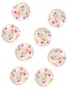 8 Accessoires piñata balles rebondissantes avec confettis