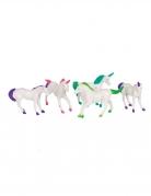 8 Accessoires piñata figurines en plastique licorne