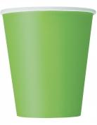 14 Gobelets en carton vert citron 266 ml