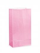 12 Sacs à cadeaux en papier roses 25 x 9 cm