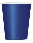 14 Gobelets en carton bleus foncés 266 ml