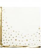 16 Serviettes en papier dorées métalliques 33 x 33 cm