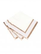 16 Serviettes en papier Porcelaine rose gold 33 x 33 cm