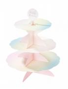 Présentoir à cupcake en carton réversible rose 3 étages