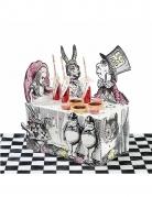 Centre de table en carton Alice au Pays imaginaire 44,5 x 37 cm