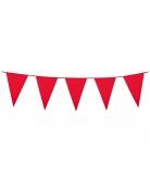 Guirlande à mini fanions rouges 3 m