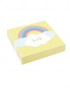 20 Petites serviettes en papier Petit Nuage jaunes 25 x 25 cm